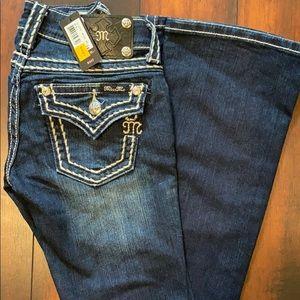 NWT miss me dark blue boot cut jeans 24 x 34